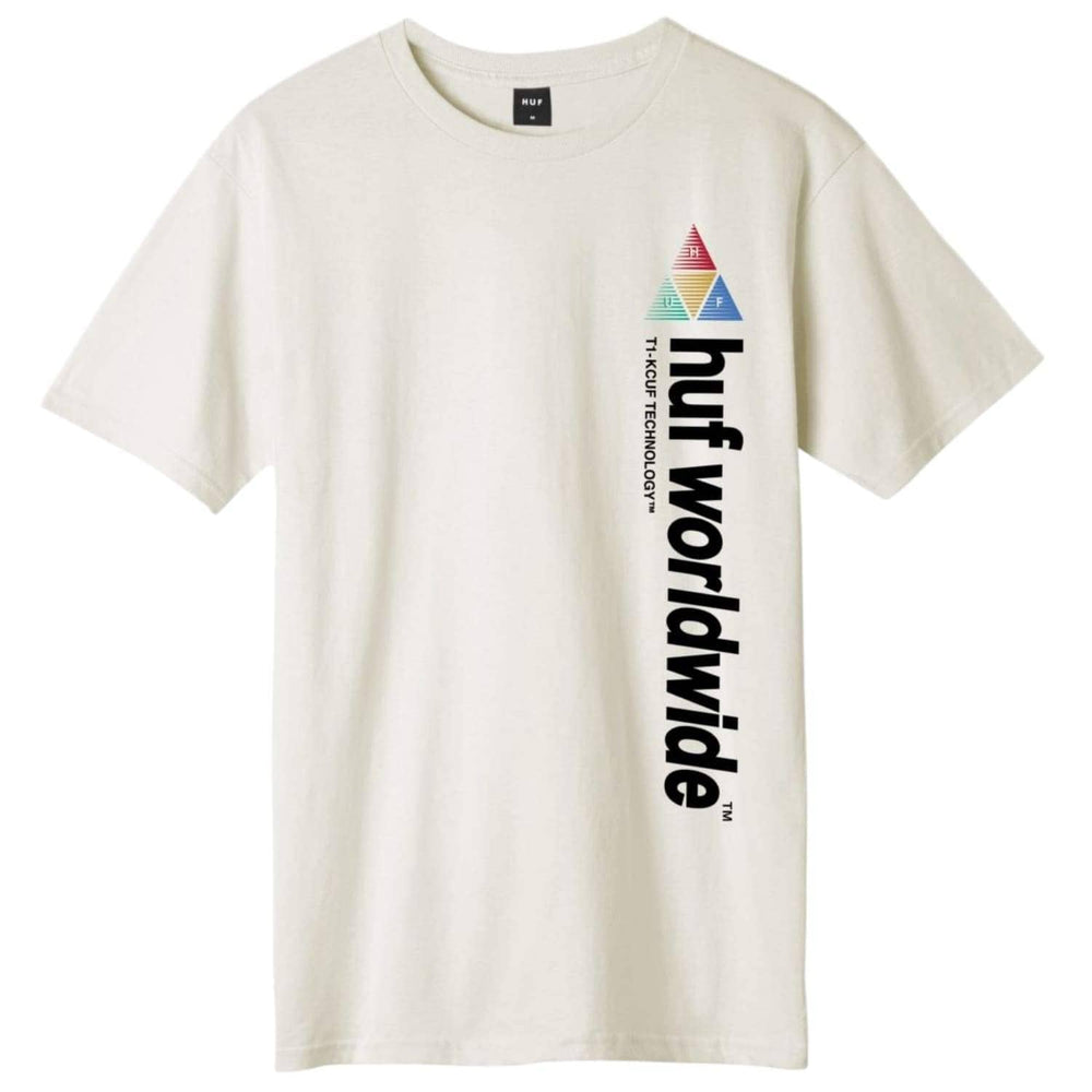 Huf Peak Sportif T-Shirt Unbleached - Mens Graphic T-Shirt by Huf