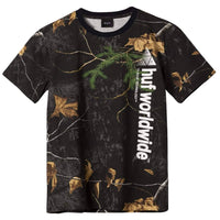 Huf Real Tree Peak Logo T-Shirt - Real Tree Black