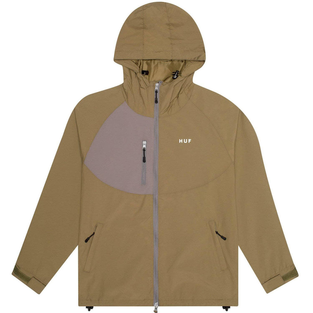 Huf Standard Shell 2 Jacket Martini Olive Mens Windbreaker/Rain Jacket by Huf
