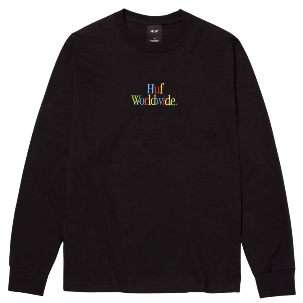 Huf Woz Embroidered L/S T-Shirt - Black