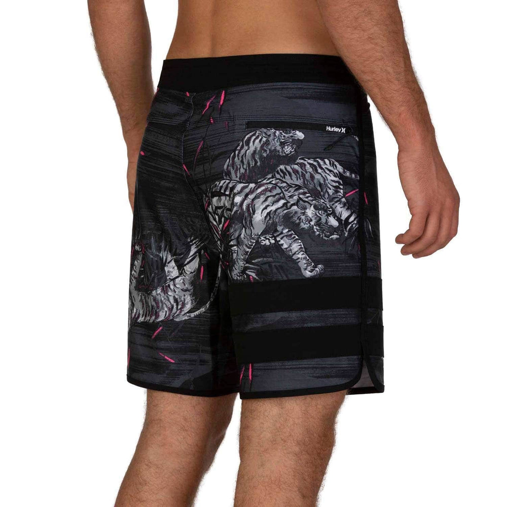 "Hurley Block Party Tiger Style 18"" Boardshorts Black Mens Boardshorts by Hurley"