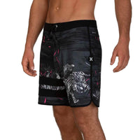 "Hurley Block Party Tiger Style 18"" Boardshorts - Black"