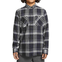 Hurley Boys Creeper Washed L/S Shirt Black Boys Flannel Shirt by Hurley