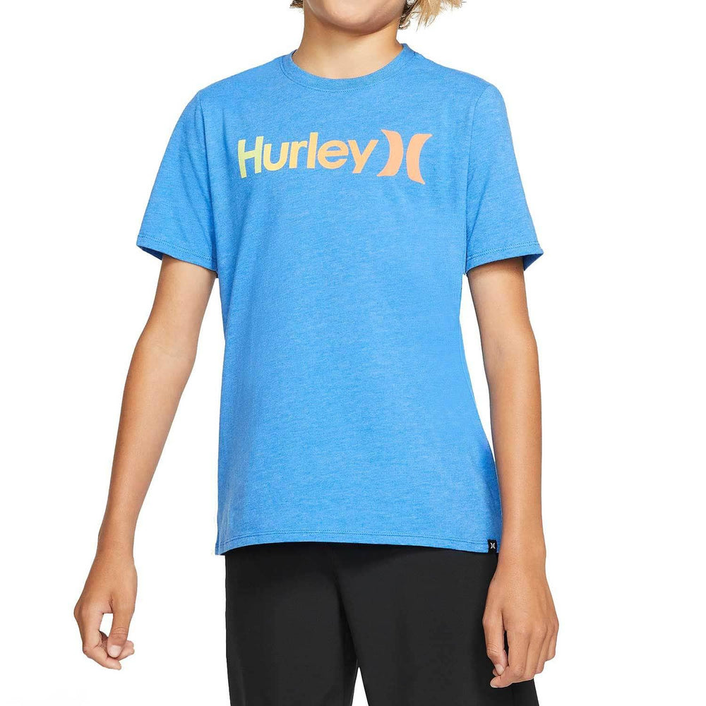 Hurley Boys One & Only Gradient 2.0 T-Shirt Soar Heather Boys Surf Brand T-Shirt by Hurley