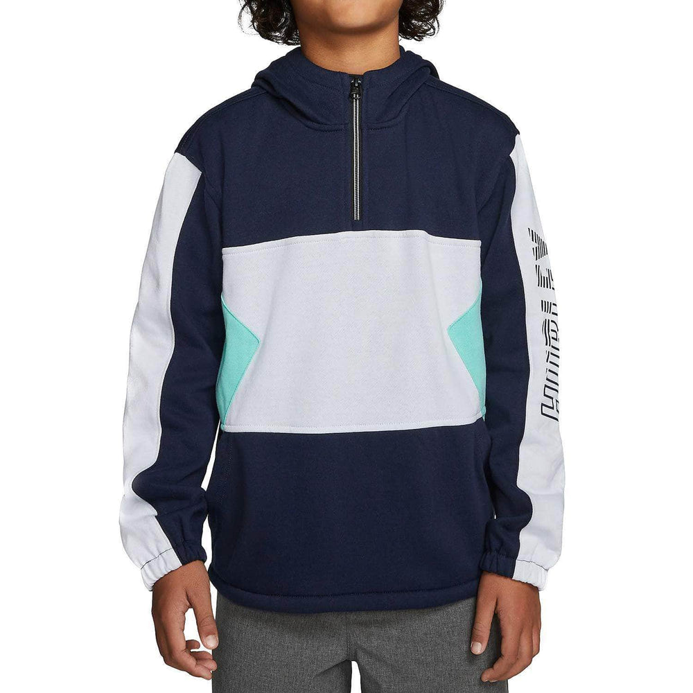 Hurley Boys Onshore Blocked Quarter Zip Obsidian