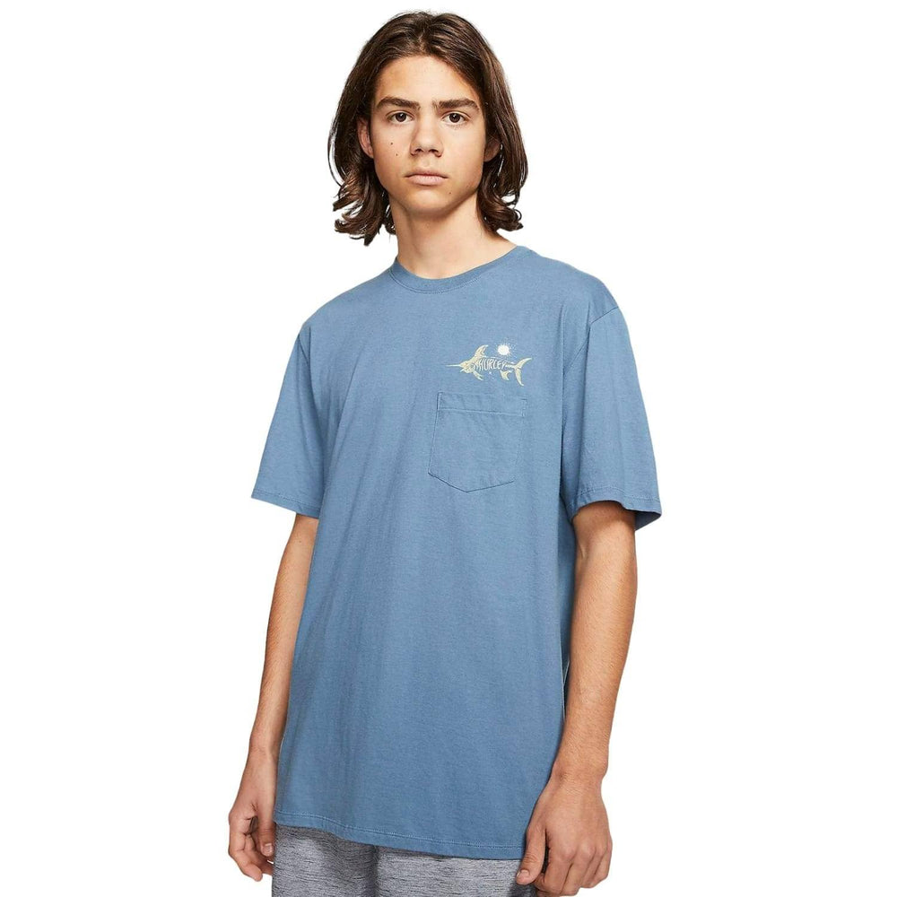 Hurley Boys Salty Bones Pocket T-Shirt - Obsidian