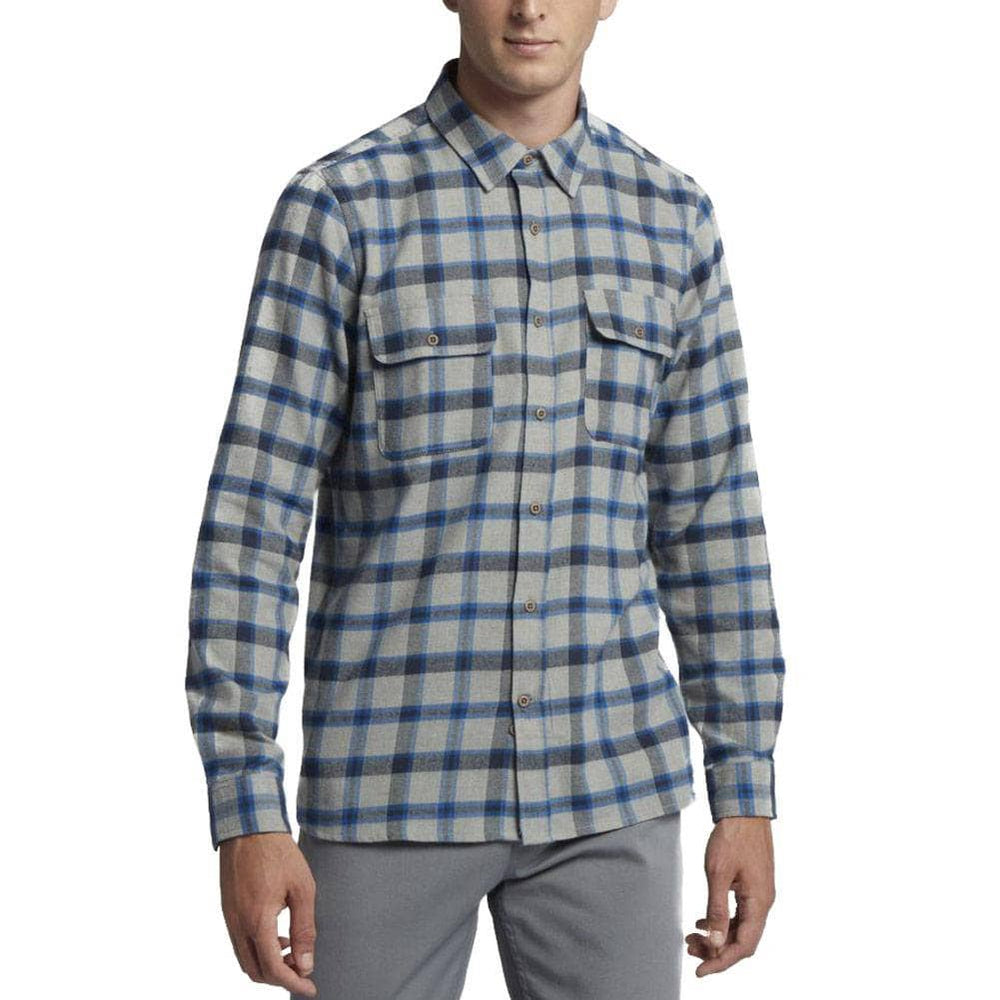 Hurley Hurley Dri-Fit Hemmingway L/S Shirt - Dark Grey Heather Mens Casual Shirt by Hurley