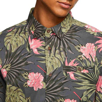 Hurley Lanai Stretch S/S Shirt - Anthracite