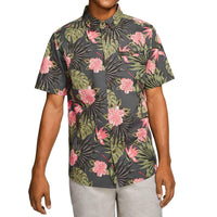 Hurley Lanai Stretch S/S Shirt Anthracite Mens Casual Shirt by Hurley
