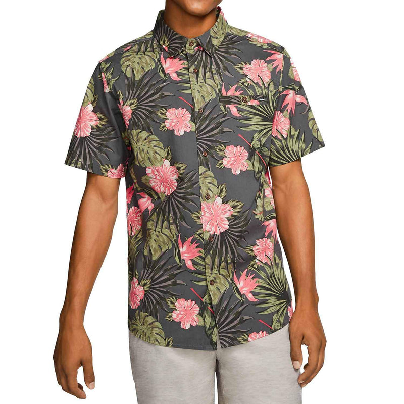 hurley-lanai-stretch-shortsleeve-shirt-anthracite