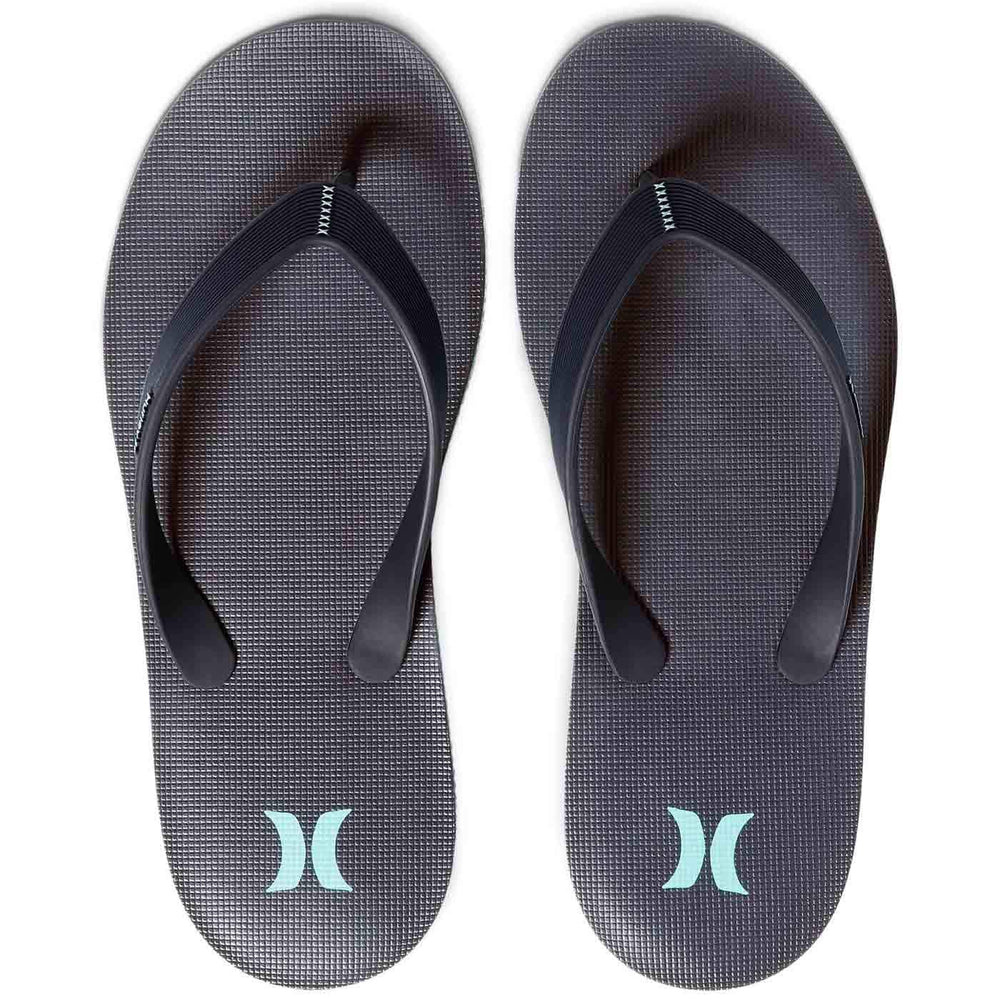 Hurley One & Only Sandals Ocean Bliss Noise Aqua Mens Flip Flops by Hurley