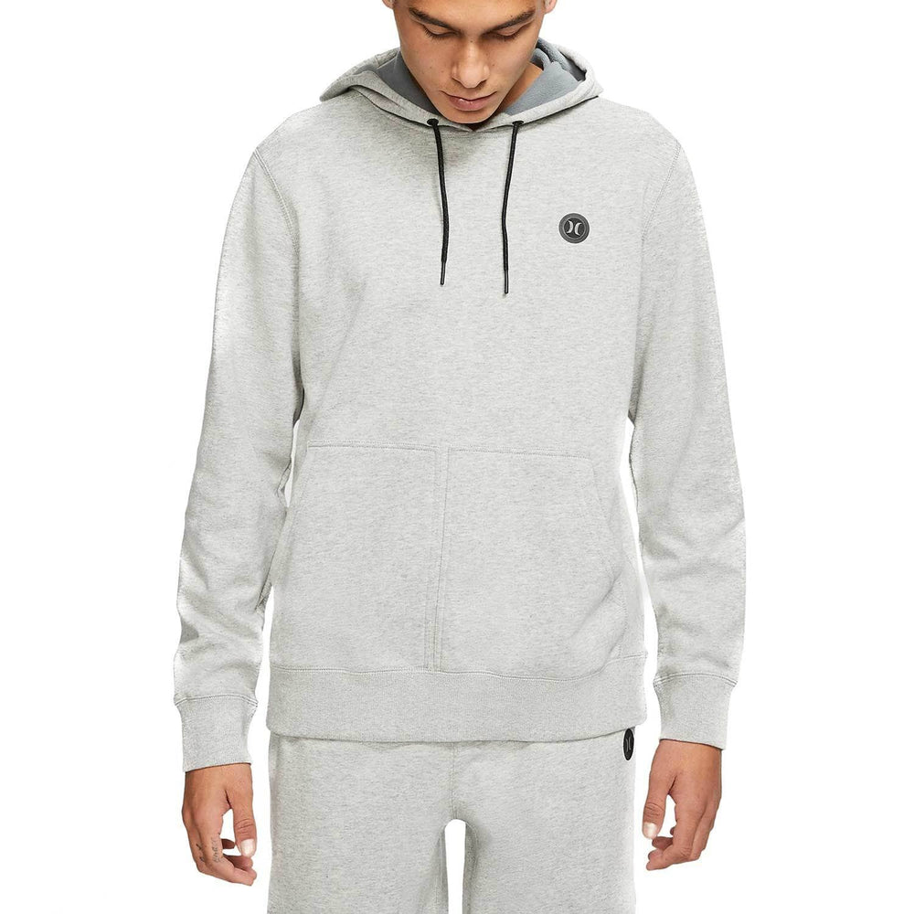 Hurley Therma Protect Pullover Hood - Grey Heather Mens Pullover Hoodie by Hurley