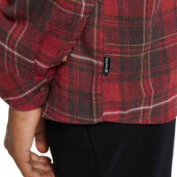 Hurley Vedder Washed L/S Shirt - Team Red Boys Flannel Shirt by Hurley