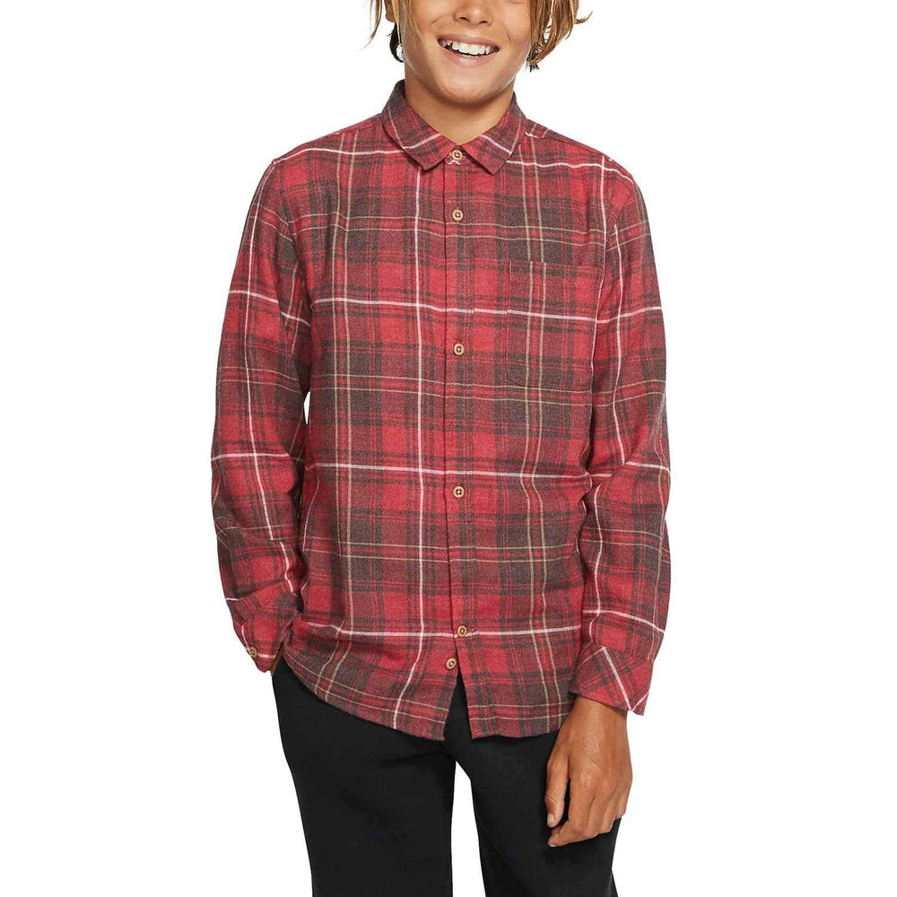 Hurley Vedder Washed L/S Shirt - Team Red