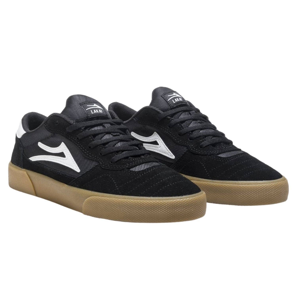 Lakai Cambridge Skate Shoes Black Gum Suede - Mens Skate Shoes by Lakai