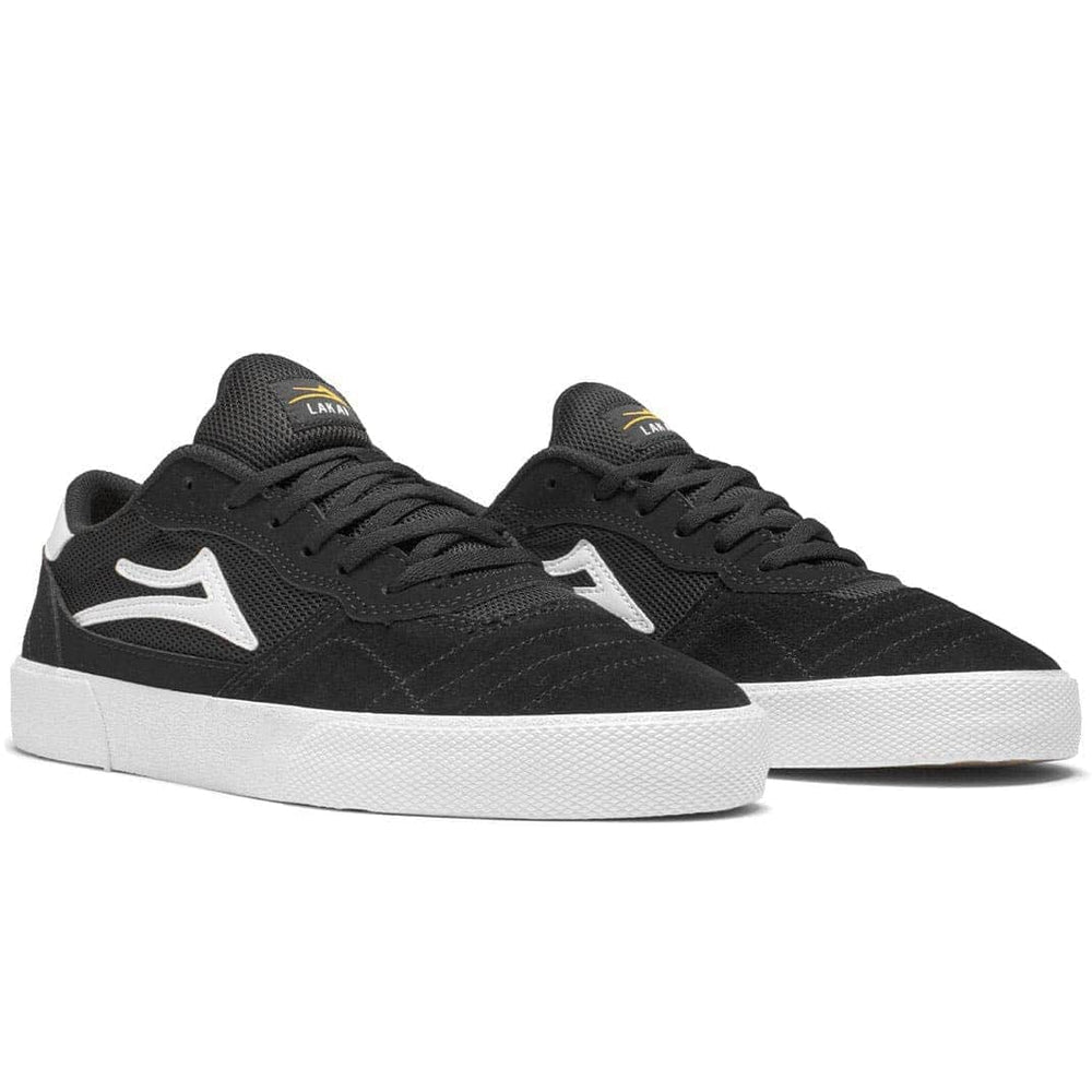 Lakai Cambridge Skate Shoes Black White Suede - Mens Skate Shoes by Lakai