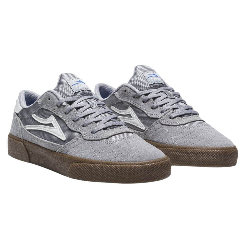 Lakai Cambridge Skate Shoes Light Grey Gum Suede