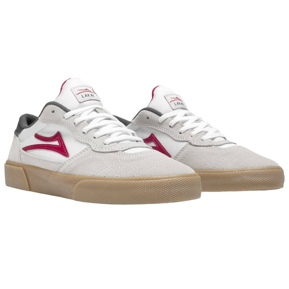 Lakai Cambridge Skate Shoes White Gum Suede Mens Skate Shoes by Lakai