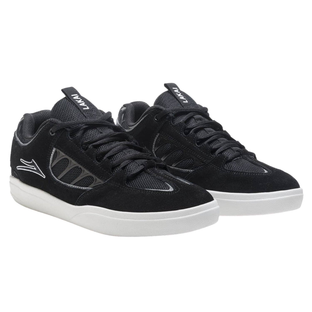 Lakai Carroll Skate Shoes Black White Suede - Mens Skate Shoes by Lakai