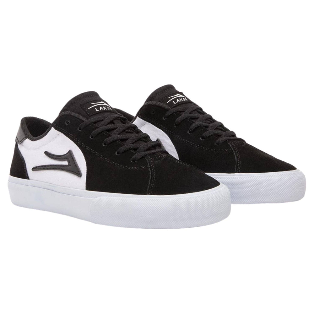 Lakai Flaco II Skate Shoes Black White Suede - Mens Skate Shoes by Lakai