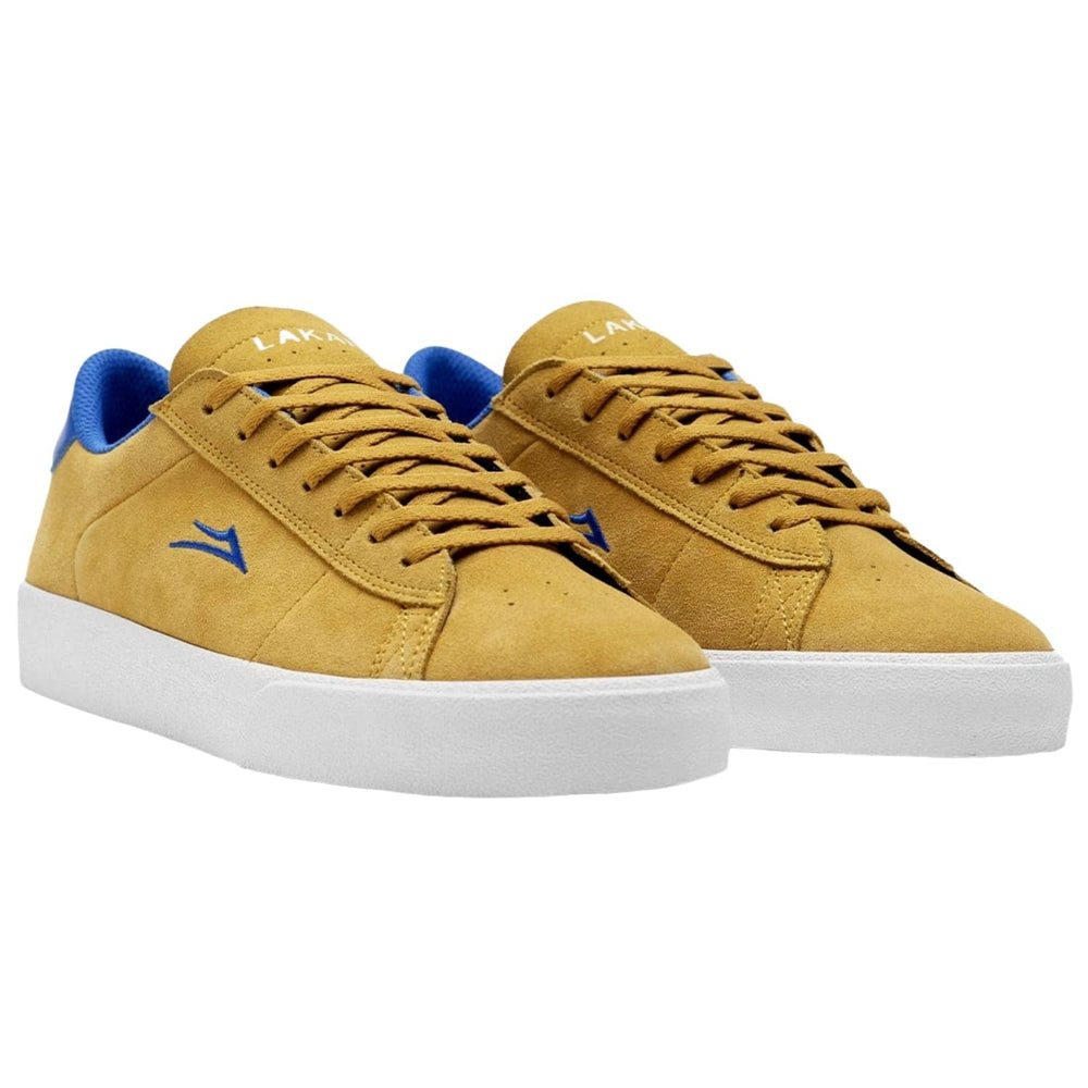 Lakai Newport Skate Shoes Gold Royal Suede Mens Skate Shoes by Lakai