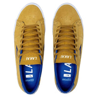 Lakai Newport Skate Shoes - Gold/Royal Suede