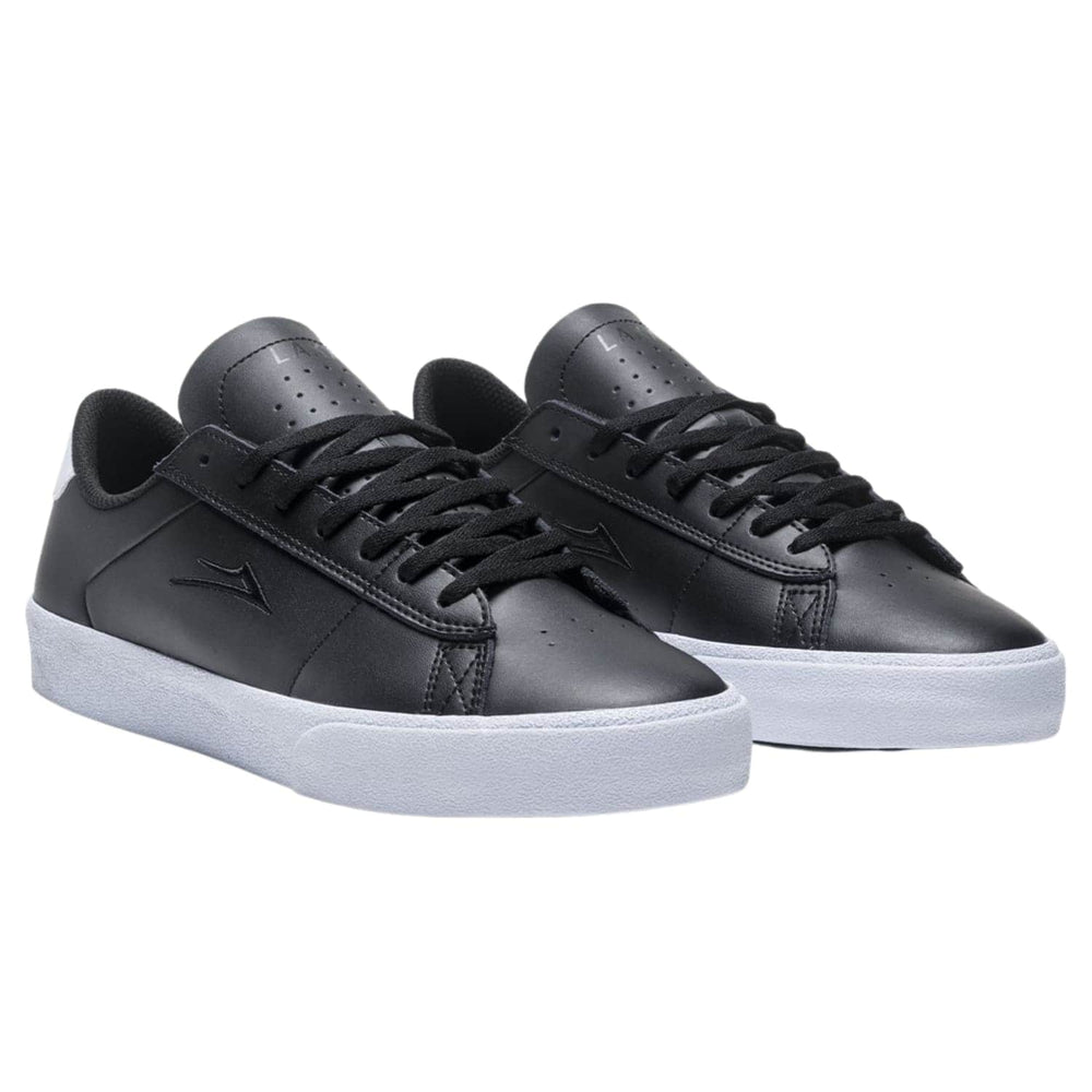 Lakai Newport Skate Shoes Black Leather