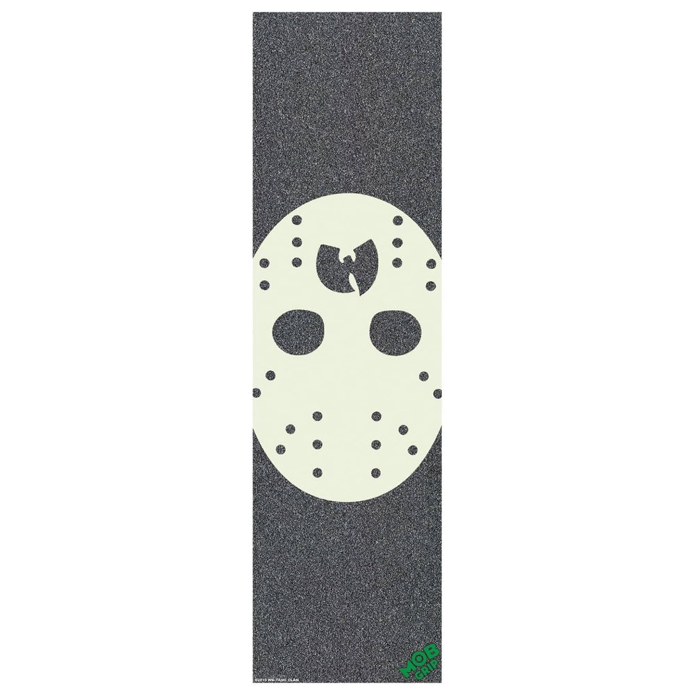 Mob Grip Wu-Tang Clan 2 Hockey Mask Griptape Black 9in - Skateboard Grip Tape by Mob Grip