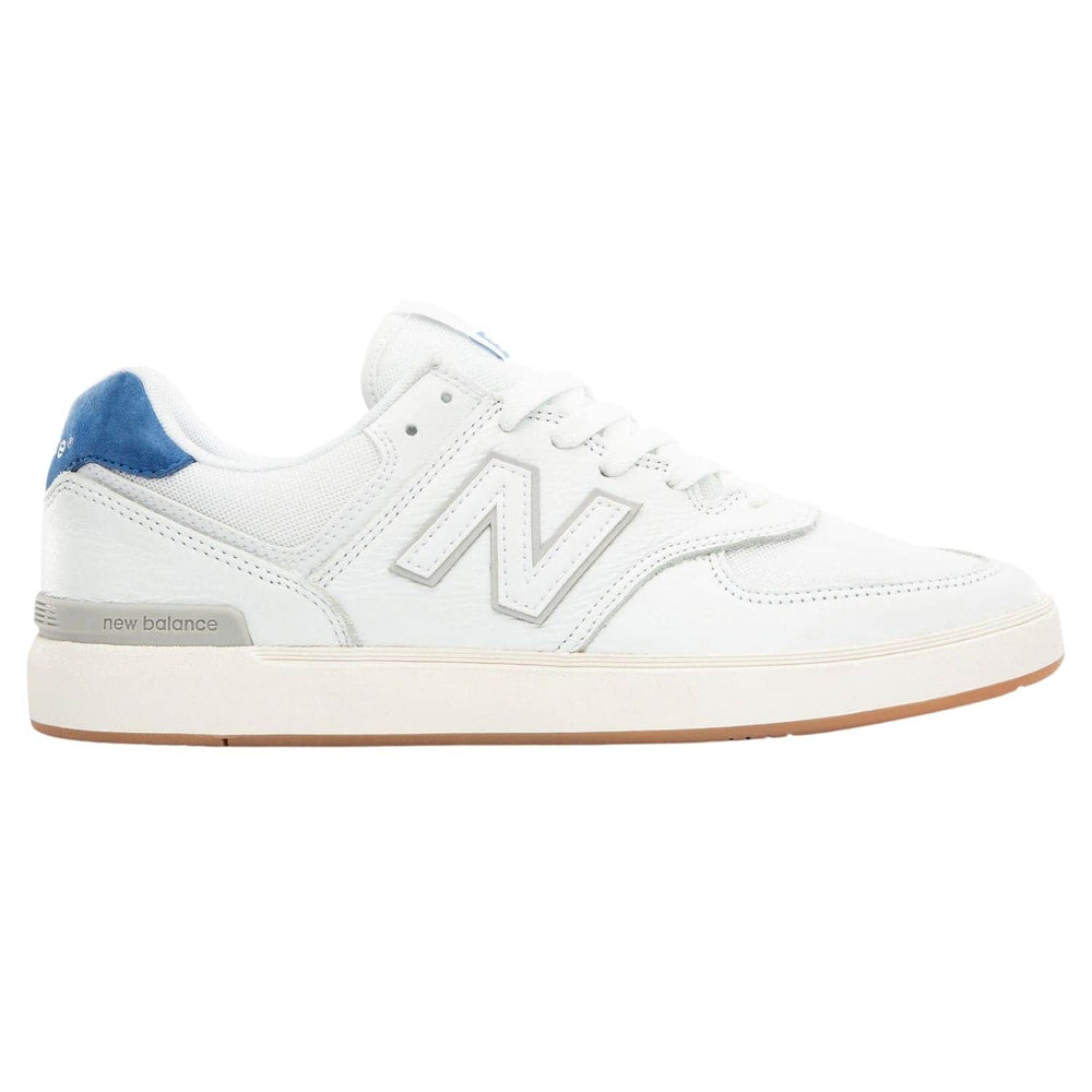 New Balance Numeric AM574 Shoes - White / Royal - Mens Skate Shoes by New Balance Numeric
