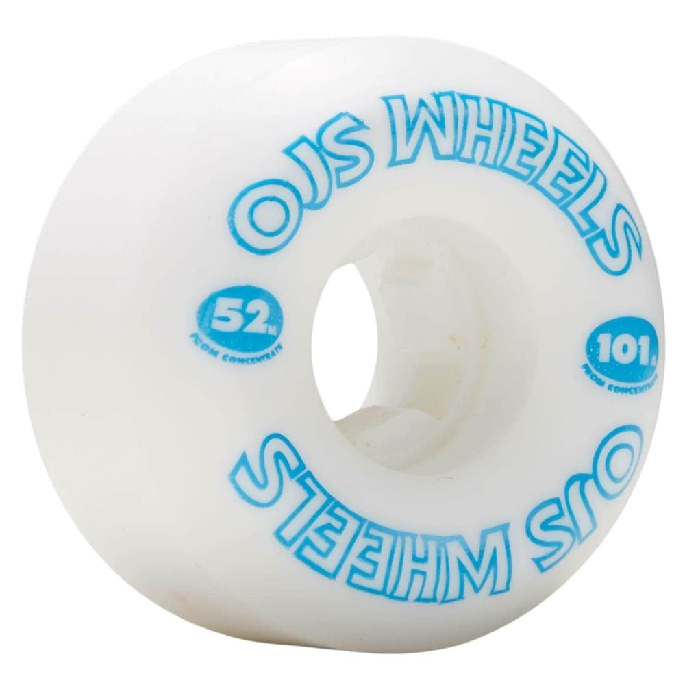OJs From Concentrate Hardline 101a Skateboard Wheels - White - 52mm