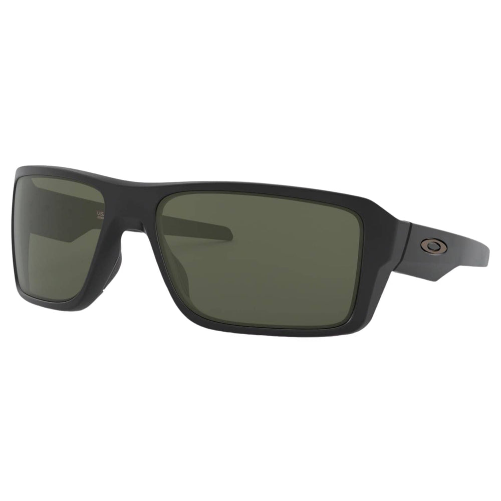 Oakley Double Edge Sunglasses Matte Black - Dark Grey Lens N/A - Wrap Around Sunglasses by Oakley