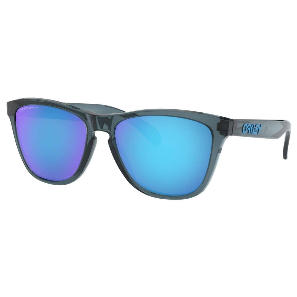 Oakley Frogskins Sunglasses Crystal Black - Prizm Sapphire Polarized - Round Sunglasses by Oakley One Size