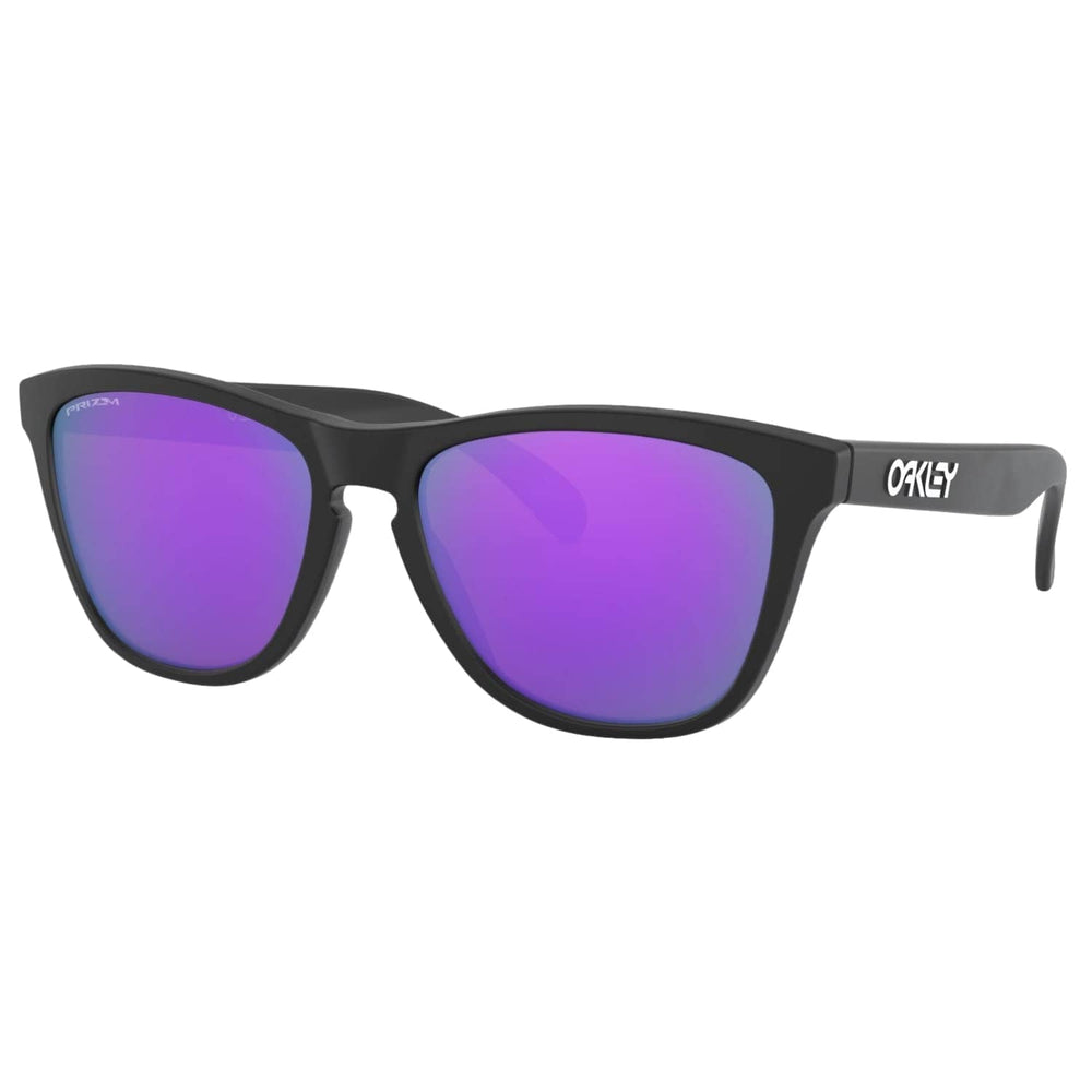 Oakley Frogskins Sunglasses Matte Black - Prizm Violet N/A - Round Sunglasses by Oakley