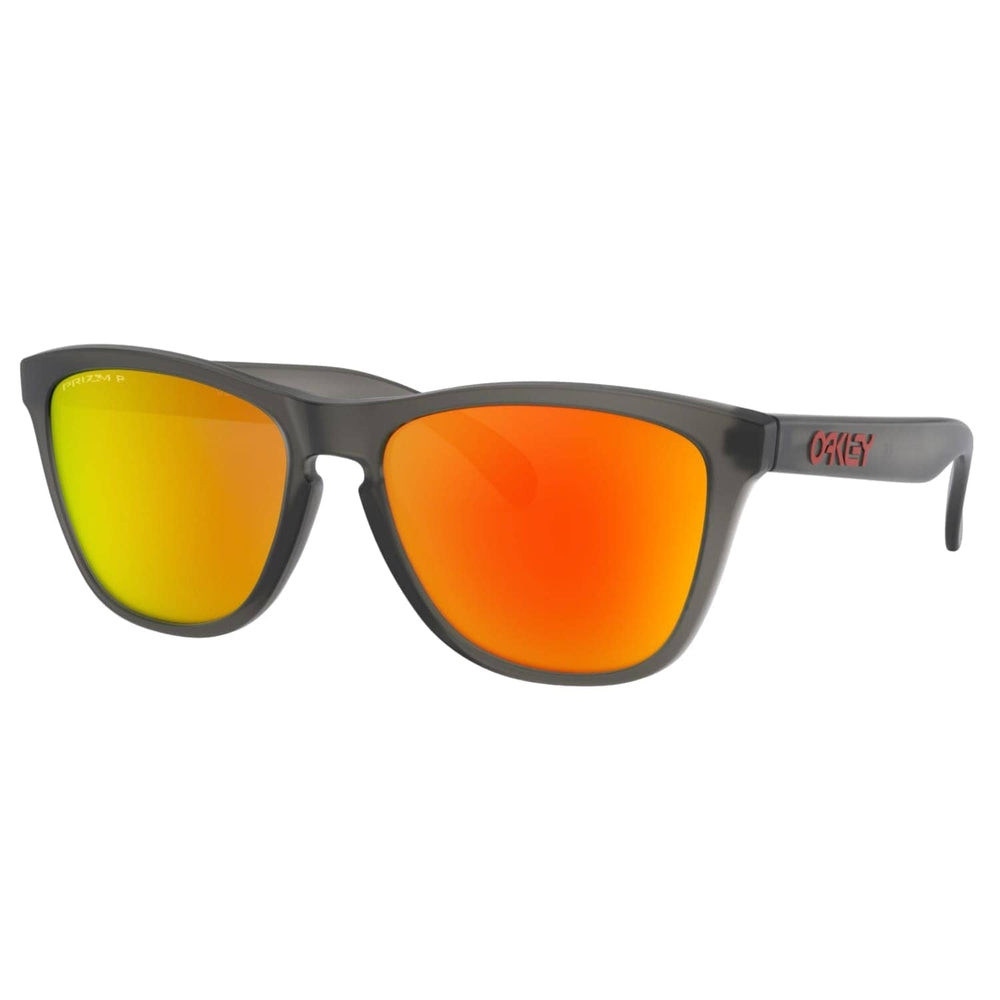 Oakley Frogskins Sunglasses - Matte Grey Smoke/Prizm Ruby Polarized