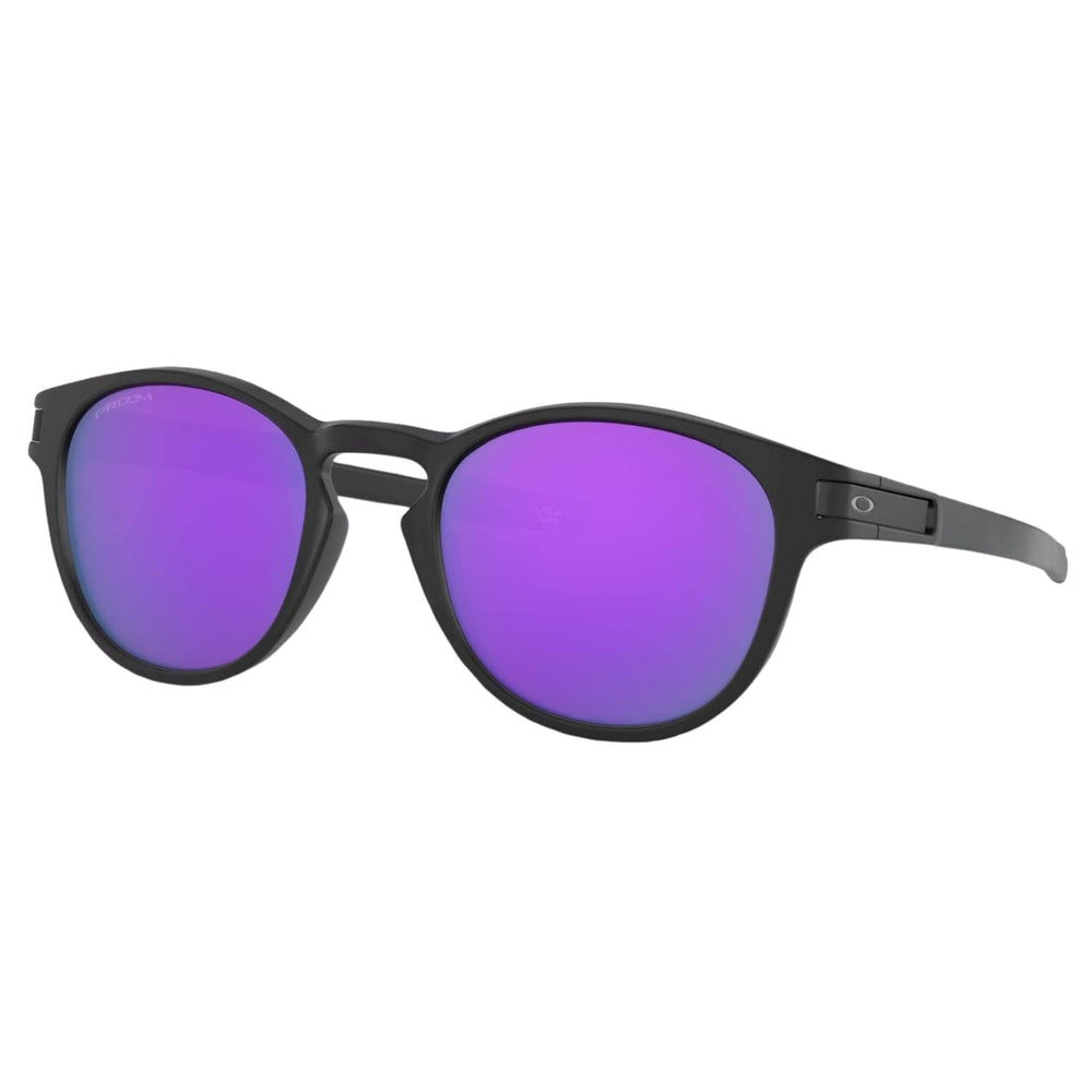 Oakley Latch Sunglasses - Matte Black/Prizm Violet