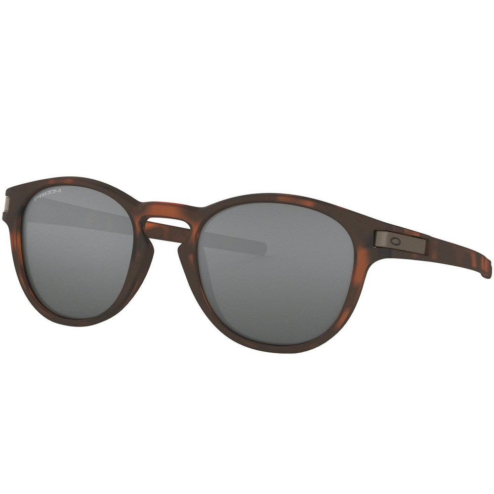 Oakley Latch Sunglasses - Matte Brown Tortoise/Prizm Black Iridium Round Sunglasses by Oakley