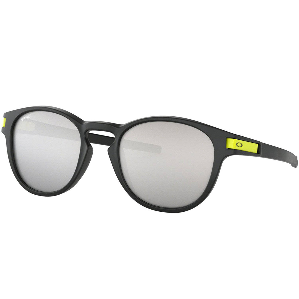 Oakley Latch Sunglasses Valentino Rossi 46 - Matte Black/Chrome Iridium - O/S (one size) Round Sunglasses by Oakley
