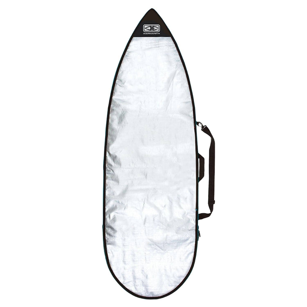 Ocean and Earth Barry Basic Shortboard Surfboard Cover 2020 Silver / Blue 5ft 8in
