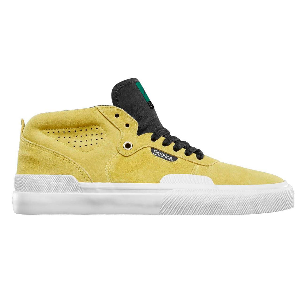 Emerica Pillar Mid Top Skate Shoe Yellow - Mens Skate Shoes by Emerica