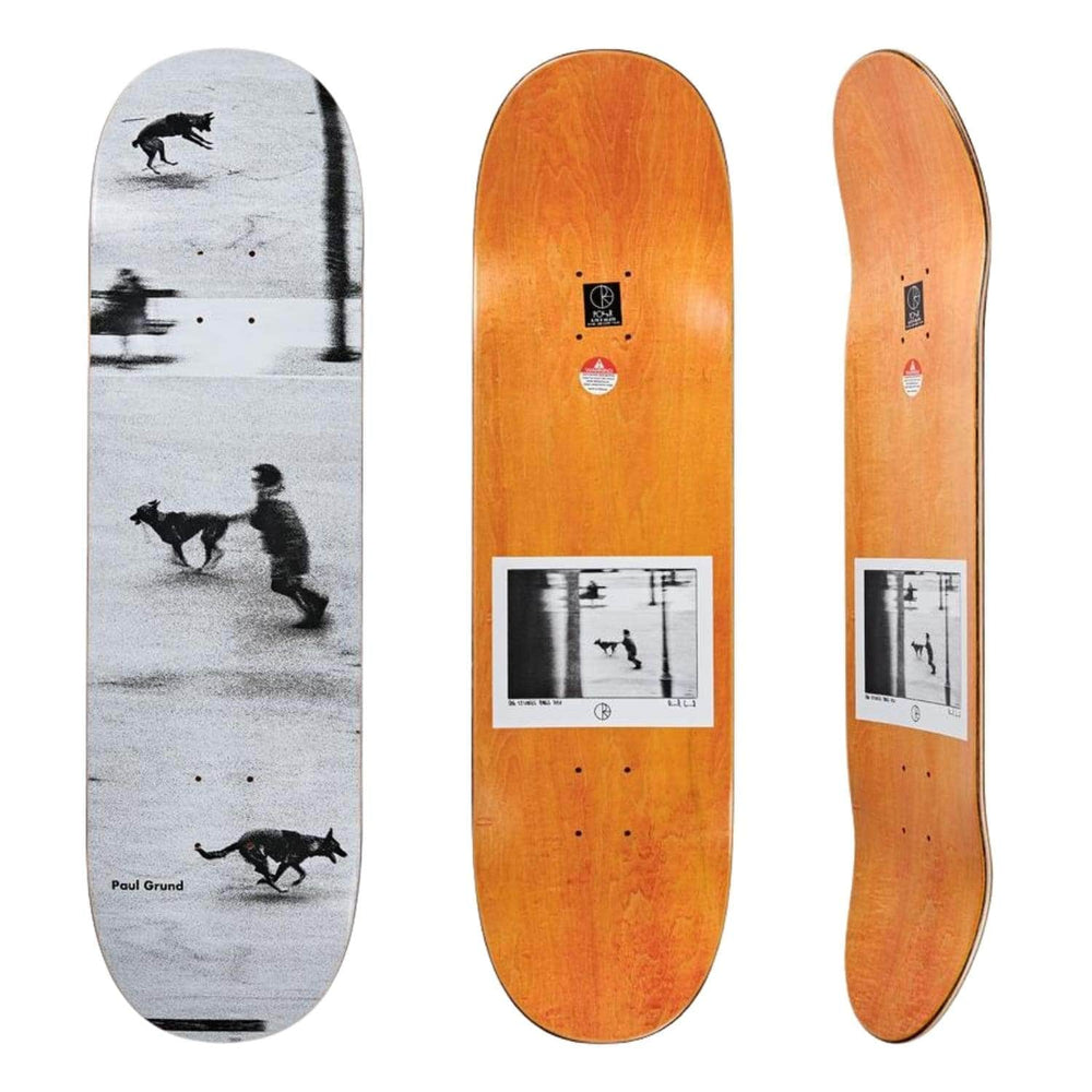 Polar Paul Grund Dog Studies Skate Deck - White - 8.25in