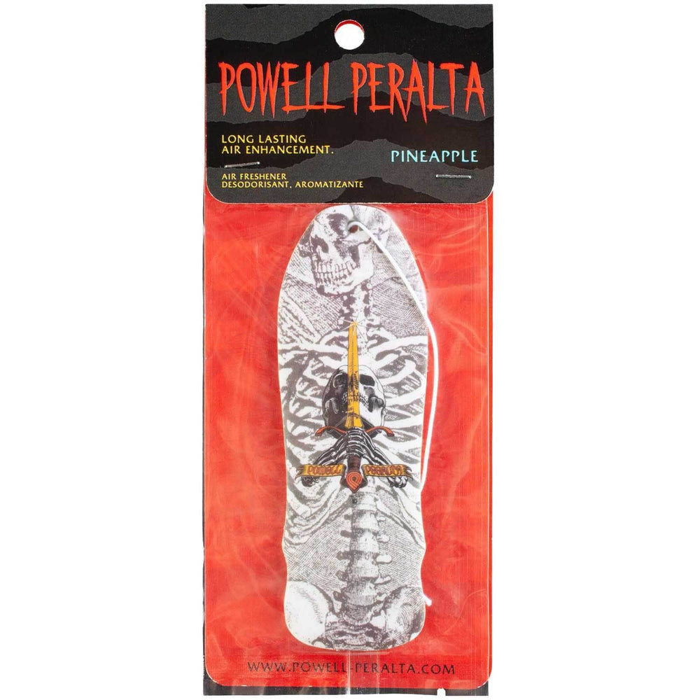Powell Peralta OG Geegah Skull & Sword Air Freshener - Pineapple White Car Air Freshener by Powell Peralta