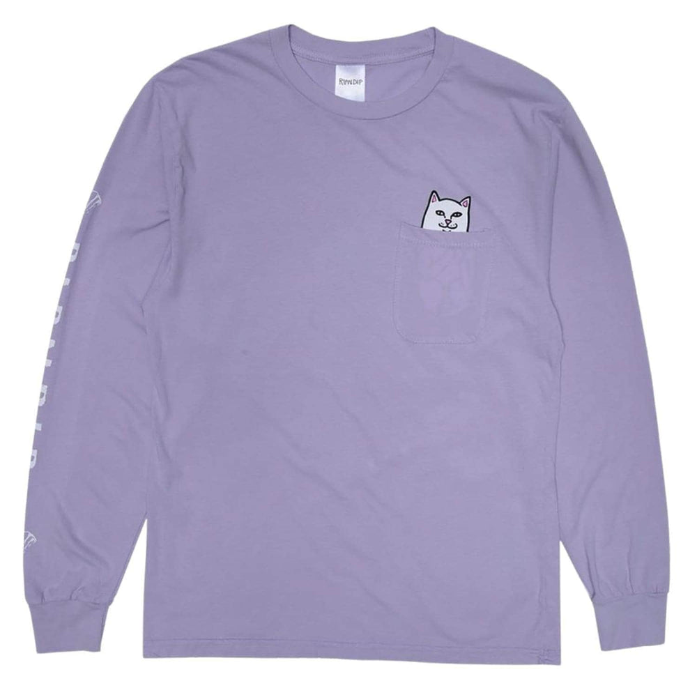 Rip N Dip Lord Nermal Pocket L/S T-Shirt - Lavender