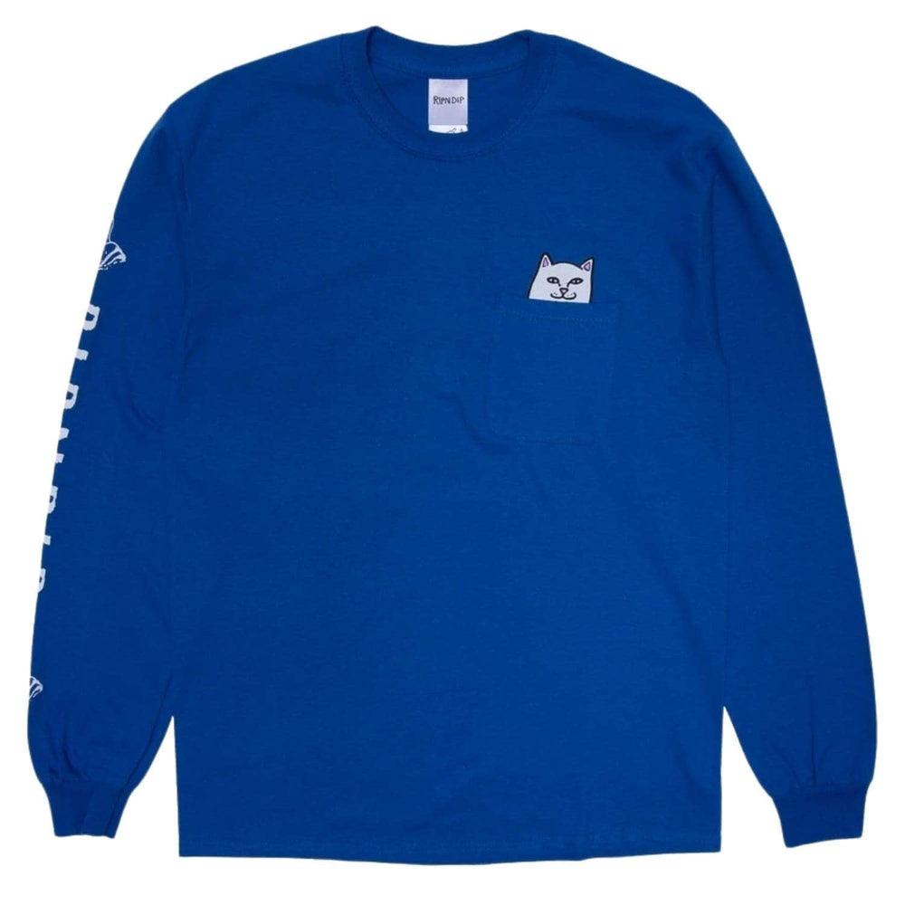 Rip N Dip Lord Nermal Pocket L/S T-Shirt - Royal