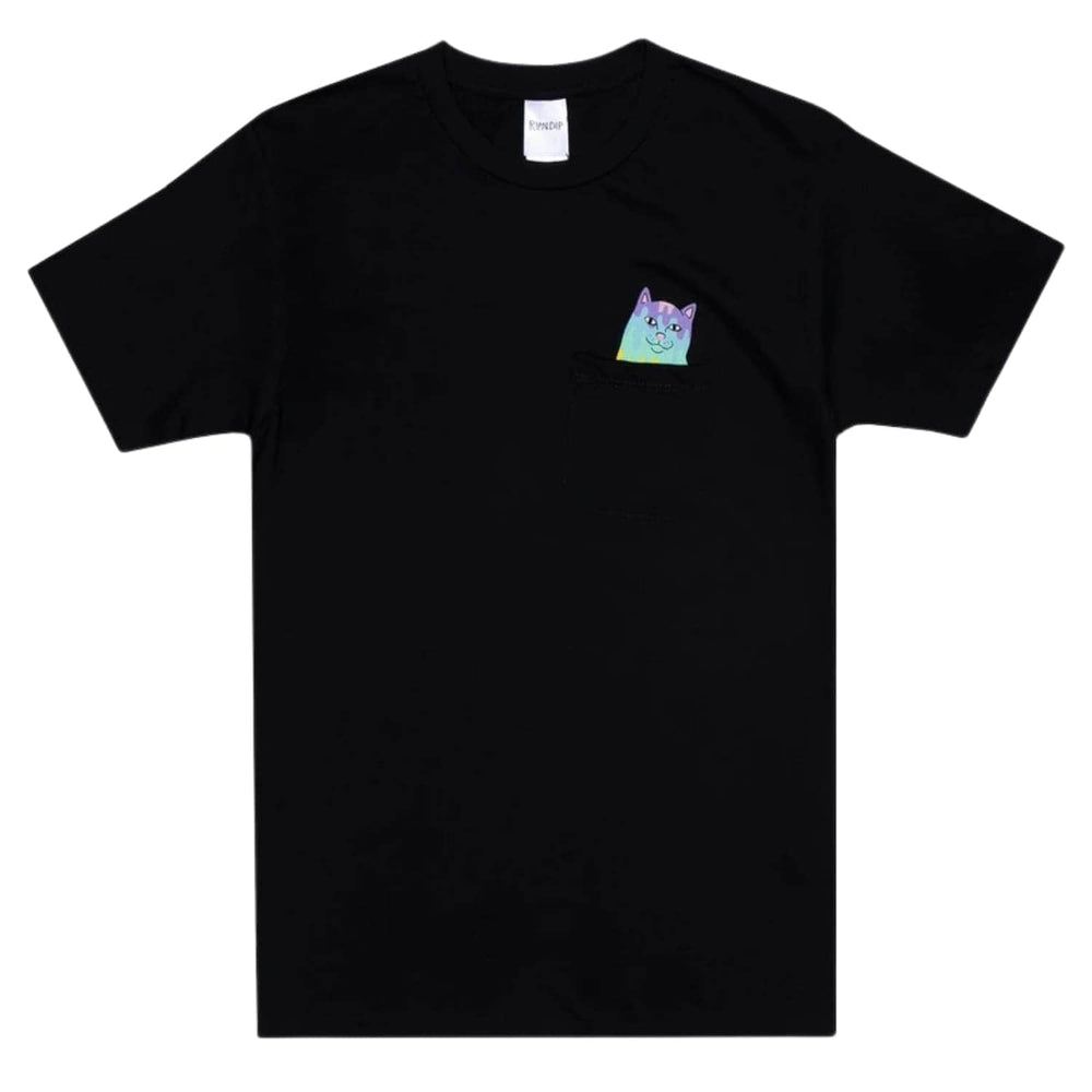 Rip N Dip Rainbow Nerm Pocket T-Shirt - Black
