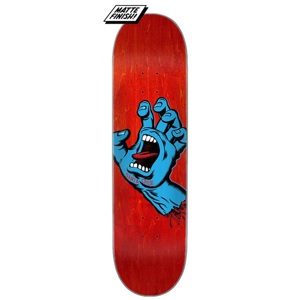 Santa Cruz Screaming Hand Skateboard Deck Red - Skateboard Deck by Santa Cruz
