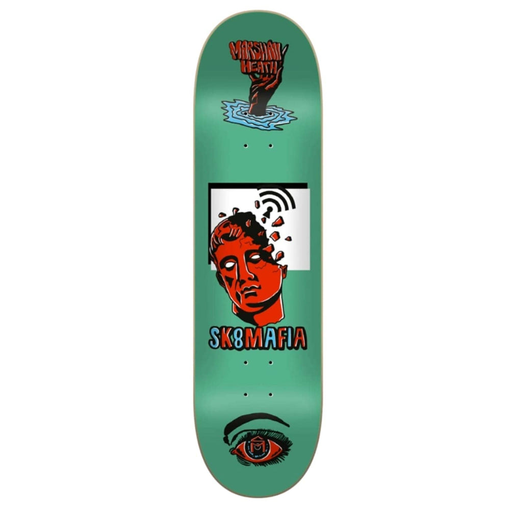 Sk8 Mafia Marshall Heath Ward Skate Deck Green 8.1in - Skateboard Deck by Sk8 Mafia
