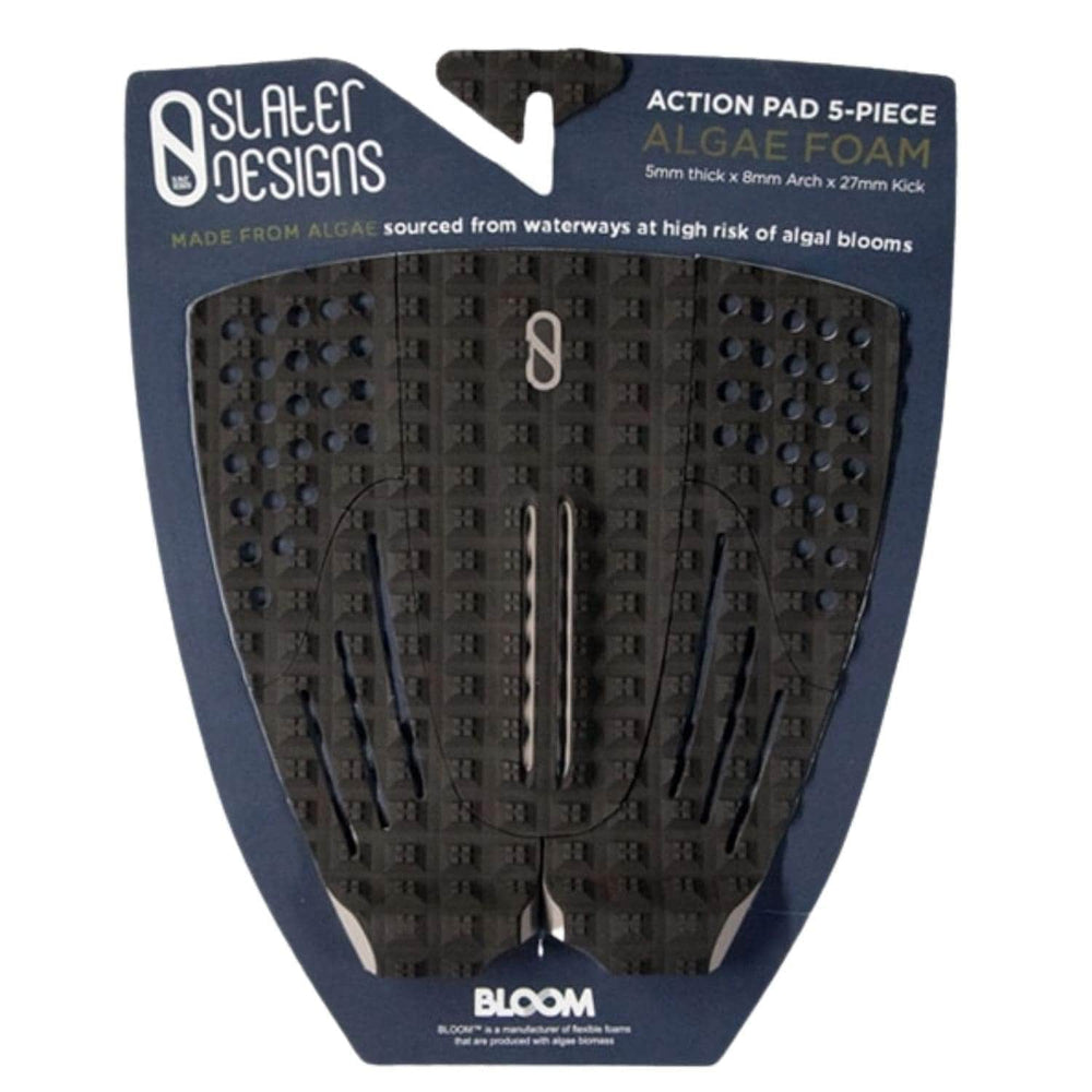 Slater Designs 5 Piece Action Pad Surfboard Traction Black/Grey