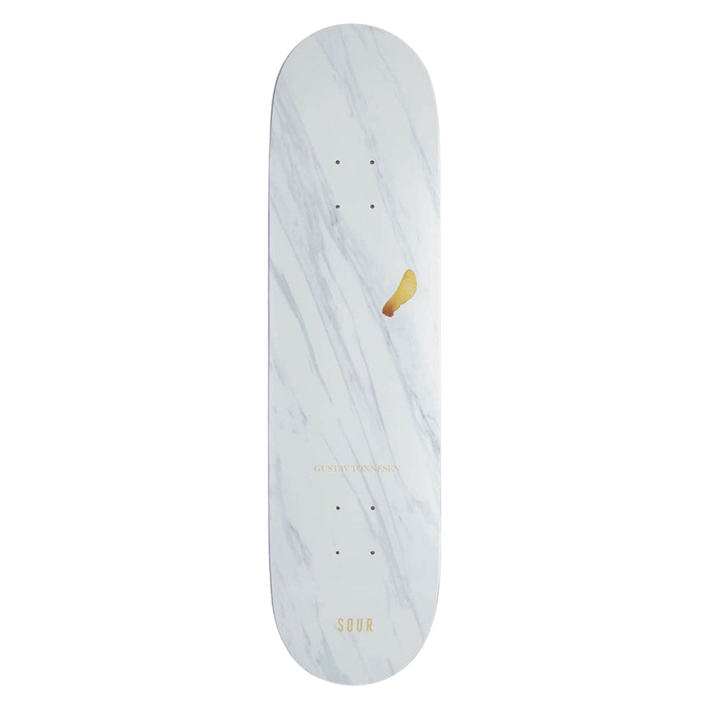 Sour Gustav Golden Helicopter Deck - White - 8.0in - Skateboard Deck by Sour
