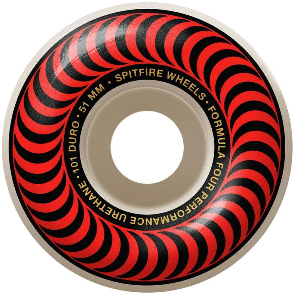 Spitfire Formula Four 51mm Classics 101duro Skateboard Wheels Red 51mm