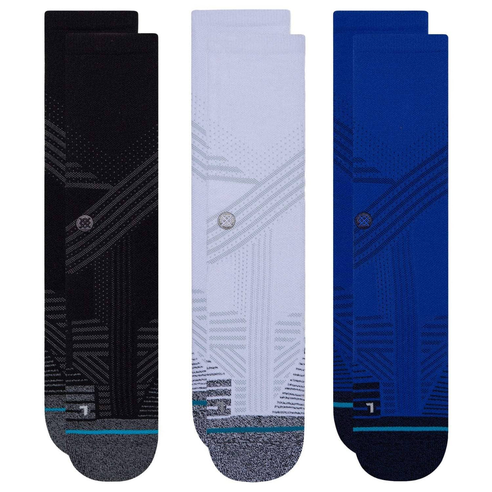 Stance Athletic Crew Socks 3 Pack Multi Mens Running/Training Socks by Stance